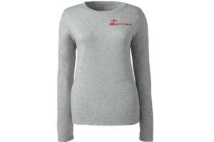 Long Sleeve Shirts Gray Women